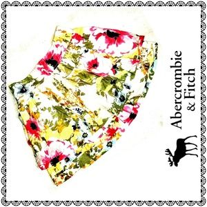 {Abercrombie & Fitch} multi floral miniskirt, sz S